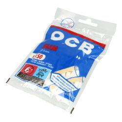 Cigaretové filtry OCB Slim s lepícím proužkem-Cigaretové filtry OCB Slim s lepícím proužkem. Při balení lepivý proužek lépe uchytí filtr k papírku. Průměr 6 mm. Sáček 150 ks filtrů. Prodej pouze po celém balení (displej) 10 ks.
