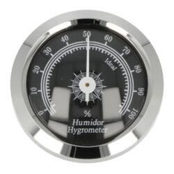 Vlhkoměr Angelo, 45mm-Standardní vlhkoměr Angelo do humidoru. Vhodný do středních nebo větších humidorů. Provedení: chrom. Vnější průměr: 45 mm Vnitřní průměr: 36 mm