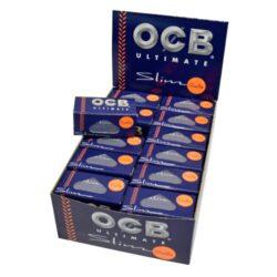 Cigaretové papírky OCB Ultimate Rolls-Cigaretové papírky OCB Ultimate Rolls. Délka 4m, šířka 44mm. Nejlehčí papírky s váhou pouze 10g/m2 pro ještě větší požitek. Prodej pouze po celém balení (displej) 24ks. Cena je uvedená za 1ks.