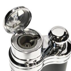 Tryskový zapalovač Siglo Bean Shape, šedý(10448D)