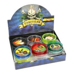 Drtič tabáku, plastový, barevný-Plastový drtič tabáku barevný. Dvojdílný drtič s magnetickým zavíráním. Rozměry drtiče tabáku: průměr 60mm, výška 20mm. Cena je uvedena za 1 ks.
