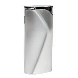 Zapalovač Eurojet Shanghai, stříbrný-Plynový zapalovač. Zapalovač je plnitelný a je dodáván v dárkové krabičce. Výška 6,8cm.