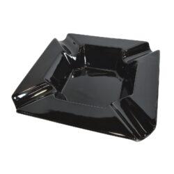 Doutníkový popelník keramický Angelo, černý-Doutníkový popelník na 4 doutníky, keramický. Popelník na doutníky má rozměry 22x22x5cm.