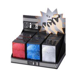 Pouzdro Clic Boxx Skull na cigarety-Pouzdro na cigarety. Pouzdro na cigarety Clic Boxx  - pouzdro na krabičku cigaret (20ks) velikosti King Size. Po stisknutí dojde k otevření pouzdra díky pružince. Rozměry: 9,5x5,8x2,4cm. Pouzdro na cigarety je plastové.  a target=_blank style=color:red href=https://cigarety.heureka.cz/pouzdro-clic-boxx-skull-na-cigarety/recenze/Recenze na Heureka.cz/a