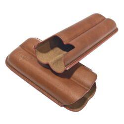 Pouzdro na 2 doutníky Etue, hnědé, kožené, 160mm, dárkové balení(812080)