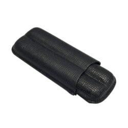 Pouzdro na 2 doutníky Etue, černé, matné, 160mm-Etue - pouzdro na dva doutníky. Černé pouzdro na doutníky je dlouhé 160mm, průměr 23mm. Doutníkové pouzdro je koženkové, matné.
