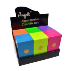 Pouzdro na cigarety Clic Boxx 100 na stovkové cigarety, Angelo-Pouzdro na cigarety. Pouzdro na cigarety Clic Boxx - pouzdro na krabičku cigaret (20ks) stovkové velikosti. Po stisknutí dojde k otevření pouzdra díky pružince. Rozměry: 10,8x5,8x2,4cm. Pouzdro na cigarety je plastové. Cena je uvedena za 1 ks. Před odesláním objednávky uveďte číslo barevného provedení do poznámky.