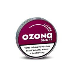 Šňupací tabák Ozona C-type Snuff, 5g-Šňupací tabák Ozona C-type Snuff. Aroma čerstvých zralých třešní propůjčuje tomuto jemně mletému mentholovému šňupacímu tabáku velmi zajímavou příchuť. Ozona Snuff je druhá nejznámější značka šňupacích tabáků německé firmy A.Pöschl Tabak. Balení 5g.