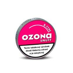 """Šňupací tabák Ozona R-type Snuff, 5g-Šňupací tabák Ozona R-type Snuff. Velmi jemně mletý šňupací tabák """"anglického typu"""" s velmi příjemnou příchutí mentholu a čerstvých lesních malin vyrobený na základě originální německé receptury. Balení 5g."""