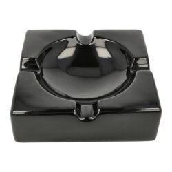 Doutníkový popelník keramický Angelo, černý(424002)