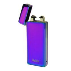 USB zapalovač Hadson Percy Arc, el. oblouk, duhový-USB zapalovač s elektrickým zapalováním. USB zapalovač využívá k zapálení elektrický oblouk, namísto tradičního plynu. Zapalovač se zapálí otevřením horního krytu a zatřesením. V zapalovači je integrovaný MicroUSB port, kterým se USB zapalovač dobíjí. V balení je přiložen nabíjecí MicroUSB-USB kabel. Doba nabíjení USB zapalovače cca 60 minut. Výška zapalovače 7,3cm.