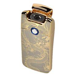USB zapalovač Winjet Arc Flowers el. oblouk, zlatý-USB zapalovač s elektrickým zapalováním. USB zapalovač využívá k zapálení elektrický oblouk, namísto tradičního plynu. V zapalovači je integrovaný MicroUSB port, kterým se USB zapalovač dobíjí. V balení je přiložen nabíjecí MicroUSB-USB kabel. Doba nabíjení USB zapalovače cca 60 minut. Výška zapalovače 7cm.
