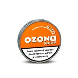 Šňupací tabák Ozona O-type Snuff, 5g-Šňupací tabák Ozona O-type Snuff. Velmi jemně mletý šňupací tabák s výraznou příchutí pomeranče. Ozona Snuff je druhá nejznámější značka šňupacích tabáků německé firmy A.Pöschl Tabak. Balení 5g.