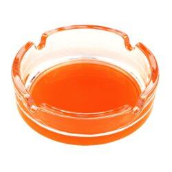Cigaretový popelník skleněný, barevný-Cigaretový popelník skleněný, kulatý. Průměr popelníku 10,5cm.