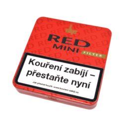 Doutníky Villiger Red Mini Vanilla Filter, 20ks-Doutníky Villiger Red Mini Vanilla Filter s vanilkovou příchutí a filtrem. Cigarillos s filtrem jsou balené po 20 doutníčkách v plechové krabičce. Délka 81mm, průměr 8,2mm. Balení: 5 ks krabiček.