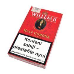 Doutníky Willem II Half Corona, 5ks-Doutníky Willem II Half Corona. Doutníky jsou balené po 5 doutnících v papírové krabičce. Délka 100mm, průměr 14,9mm. Balení: 5 ks krabiček.