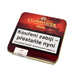 Doutníky Clubmaster Mini Aromatic Vanilla Cigarillo, 20ks-Doutníky Clubmaster Mini Aromatic Vanilla Cigarillo s příchutí vanilkovou. Cigarillos jsou balené po 20 doutníčkách v plechové krabičce. Délka 67mm, průměr 7,4mm. Balení: 10 ks krabiček.