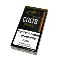 Doutníky Colts Original, 10ks-Doutníky Colts Original s příchutí rumu. Cigarillos jsou balené po 10 doutníčkách v papírové krabičce. Délka 90mm, průměr 8,5mm. Balení: 10 ks krabiček.