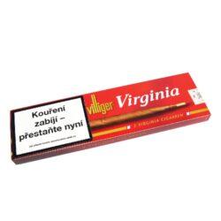 Doutníky Villiger Virginia, 5ks-Doutníky Villiger Virginia s plastovým náustkem. Uvnitř doutníku je tvrdé stéblo trávy, které po vytažení zaručí velmi dobrý tah a chladivý kouř. Doutníky jsou balené po 5 doutnících v papírové krabičce. Délka 187mm, průměr 9,8mm. Prodej po celém balení. Balení: 5 ks krabiček.