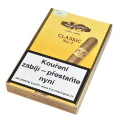 Doutníky Handelsgold Gold Label No.1, 5ks-Doutníky Handelsgold Gold Label No.1. Doutníky jsou balené po 5 doutnících v papírové krabičce. Délka 120mm, průměr 12mm.