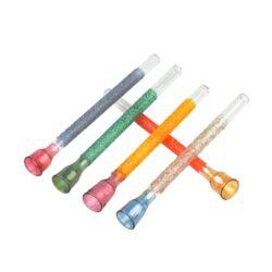 Šlukovka skleněná HM, barevná mix-Skleněná šlukovka - skleněnka barevná. Šlukovka je vyráběna ručně v ČR. Délka šlukovky je 8,5 cm.