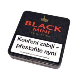 Doutníky Villiger Black Mini Sumatra, 20ks-Doutníky Villiger Black Mini Sumatra. Cigarillos jsou balené po 20 doutníčkách v plechové krabičce. Délka 81mm, průměr 8,2mm. Balení: 5 ks krabiček.