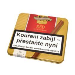 Doutníky Handelsgold Cigarillos Red, 10ks-Doutníky Handelsgold Cigarillos Red s příchutí vanilkovou. Balené po 10 doutníčkách v plechové krabičce. Délka 74mm, průměr 7mm. Balení: 10 ks krabiček.