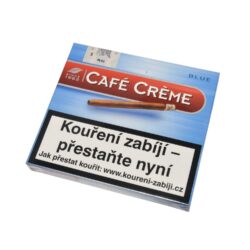 Doutníky Cafe Creme Blue, 10ks-Doutníky Cafe Creme Blue. Cigarillos jsou balené po 10 doutníčkách v papírové krabičce. Délka 75mm, průměr 8,5mm. Balení: 10 ks krabiček.