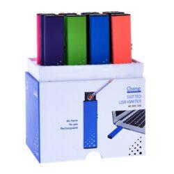 USB zapalovač Champ Dots, 12mix-Žhavící USB zapalovač s elektrickým zapalováním(žhavící spirála) a USB dobíjením. Zapálení USB zapalovače se aktivuje vysunutím bočního tlačítka. Spirála začne žhavit a zapálí cigaretu. V USB zapalovači je integrovaný vysunovací MicroUSB port, kterým se zapalovač dobíjí. Doba nabíjení zapalovače 1-2,5 hodiny.Výška USB zapalovače 7,8cm.
