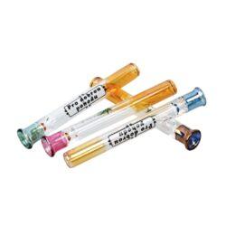 Šlukovka skleněná HM, barevné obrázky-Skleněná šlukovka - skleněnka s obrázky. Šlukovka je vyráběna ručně v ČR. Délka šlukovky je 7,8 cm.