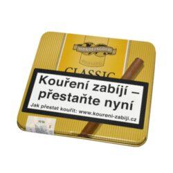 Doutníky Handelsgold Cigarillos Classic, 10ks-Doutníky Handelsgold Cigarillos Classic. Balené po 10 doutníčkách v plechové krabičce. Délka 74mm, průměr 7mm. Balení: 10 ks krabiček.