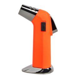 Doutníkový zapalovač Eurojet Torch New Orange-Doutníkový zapalovač vhodný nejen k zapalování doutníků. Výborný též k zapálení uhlíků do vodní dýmky, krbů nebo grilů. Tryskový zapalovač je plnitelný a má pojistku proti zapálení. Výška zapalovače: 13,5cm.
