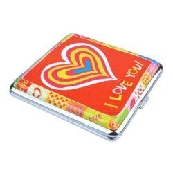 Sada Eurojet zapalovač a cigaretové pouzdro Heart red(260308)