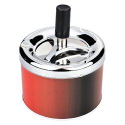 Cigaretový popelník otočný Angelo červený, kovový-Cigaretový popelník otočný Angelo. Samozhášecí popelník na cigarety je kovový, průměr 9cm.