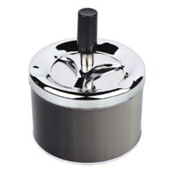 Cigaretový popelník otočný Angelo šedý, kovový-Venkovní cigaretový popelník otočný Angelo. Samozhášecí popelník na cigarety je kovový, průměr 9cm.
