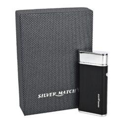 USB zapalovač Silver Match Balham 2ARC, el. oblouk, černý(674199)