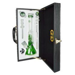 Bong skleněný s perkolací Grace Glass Sphere Ice zelený SET 35cm(G337G)