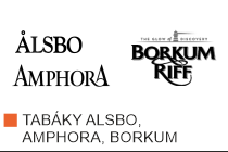 Kvalitní dýmkový tabák Alsbo, Amphora, Borkum. Velký výběr i z jiných značek tabáků. Skladem.