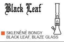 Skleněné bongy Black Leaf, Blaze Glass