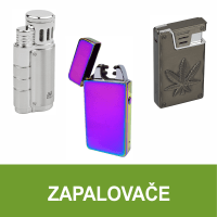 Zapalovače pro kuřáky cigaret, doutníků a dýmek. Dámské zapalovače. Velký výběr, skladem.