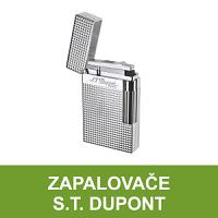Luxusní zapalovače S.T. Dupont světově známé francouzské značky. Dokonale zpracované tryskové a kamínkové zapalovače S.T. Dupont kombinující skvělou funkčnost a eleganci. Moderní, klasické, stylové - to vše jsou zapalovače S.T. Dupont.