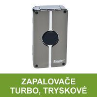 Kvalitní turbo zapalovače - tryskové zapalovače s jednou a více tryskami, zapalovače se žhavící spirálou. Větruodolné zapalovače v pestrém výběru.
