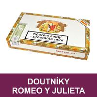 Kubánské doutníky Romeo y Julieta. Kvalitní ručně vyráběné kubánské doutníky Romeo y Julieta se stali brzo velmi známé díky kvalitě balení a velmi příjemné středně silné chuti. Doutníky skladem.