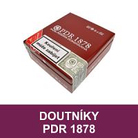 Doutníky PDR 1878 z Dominikánské republiky. Kvalitní ručně balené doutníky z Dominikánské republiky od předního výrobce PDR Cigars Factory. Prémiové dominikánské doutníky PDR 1878 charakterizuje bohatý kouř a velké množství příjemných chutí.