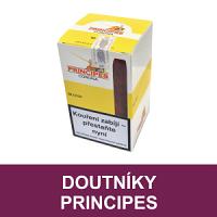 Doutníky Principes. Suché ochucené doutníky Principes jsou dodávány v chutích vanilky, rumu, čokolády a třešně. Doutníky jsou velmi oblíbené pro jejich příjemnou chuť.