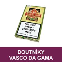 Doutníky Vasco da Gama. Kvalitní suché doutníky vyráběné v Německu. Doutníky Vasco da Gama jsou vyrobené z kvalitního tabáku a některé druhy doutníků jsou s příchutí portského vína. Doutníky skladem, ihned k dodání.