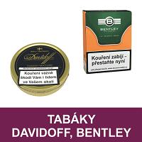 Kvalitní dýmkový tabák Davidoff, tabák Bentley. Velký výběr i z jiných značek tabáků. Skladem.
