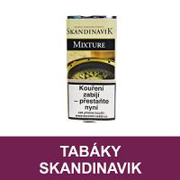 Kvalitní dýmkový tabák Skandinavik. Velký výběr i z jiných značek tabáků. Skladem.