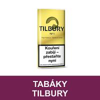 Kvalitní dýmkový tabák Tilbury. Velký výběr i z jiných značek tabáků. Skladem.