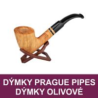 Kvalitní a precizně vyrobené dýmky brier a dýmky z olivového dřeva s 9 mm filtrem. Dýmky Prague Pipes též v provedení z kvalitního briárového dřeva. Dýmky olivové, brierové skladem.